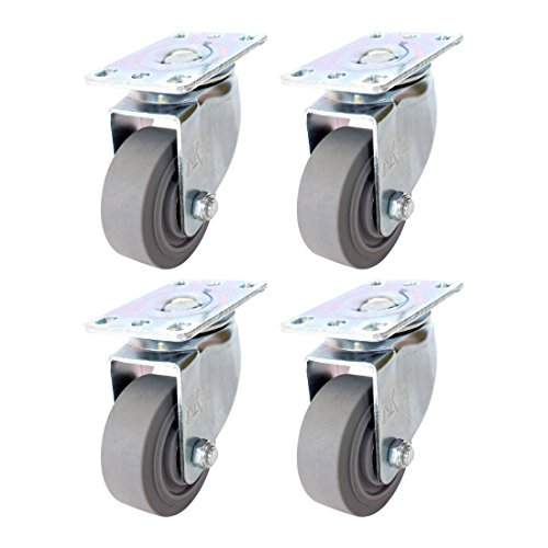 Set of 4 NK Swivel Plate Caster with 3