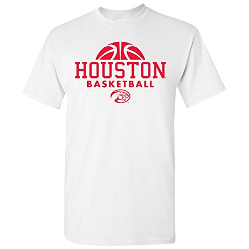 Houston Cougars Basketball Hype Mens T-Shirt - Small - White