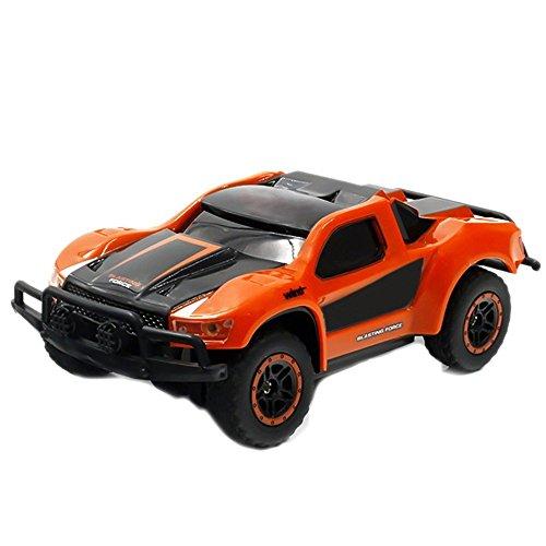 SGOTA RC Car 2.4Ghz 1: 43 Mini Remote Control Electric High Speed Racing Car Kids (Orange) (Small)