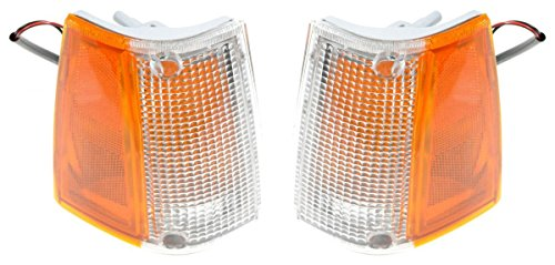 Front Corner Parking Side Marker Turn Light Pair Set for Mazda Pickup Truck