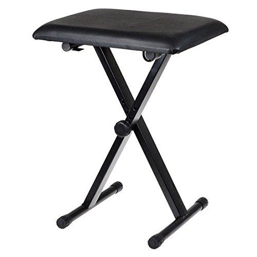 JJOnlineStoreKeyboardbank / Piano-/Orgel-Hocker –Hohe Qualität verstellbare Höhe Pro-X-Rahmen zusammenklappbar –schwarz