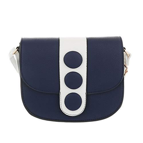 Bolso hombro Oscuro Azul mujer Ital Sintético de para al Design Tqxt5nv65O
