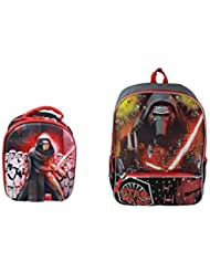 Star Wars Ep7 Kylo Ren Full Size School Backpack with Dome Shaped Lunch Bag Bundle