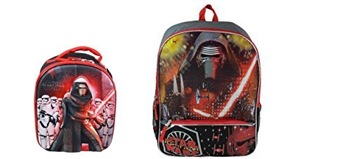 Star Wars Ep7 Kylo Ren Full Size School Backpack with Dome Shaped Lunch Bag Bundle (Dome Bundle)