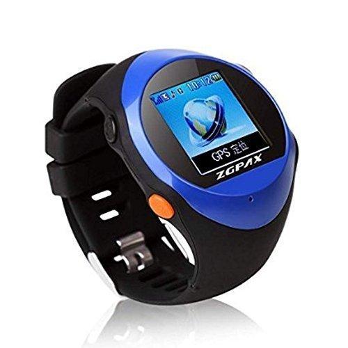 FAIRTEK ® GPS Notrufuhr Notrufmelder Ortungsgerät Tracker Ortung Tracking GeoZaun Notruf Uhr mit SOS-Taste für Senioren & Hilfsbedürftige in BLAU (Aufschaltung Online Tracking-Portal mit APP und/oder PC)