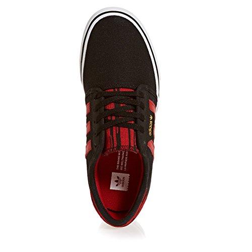 adidas Seeley J, Zapatillas de Deporte Unisex Niños Negro (Negbas/Escarl/Ftwbla 000)