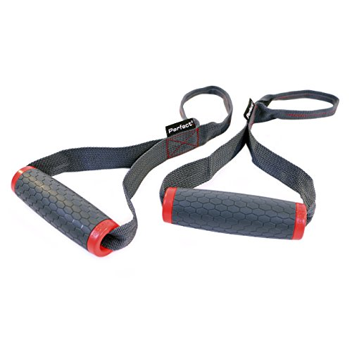 Perfect Fitness Handles, Grey/Red