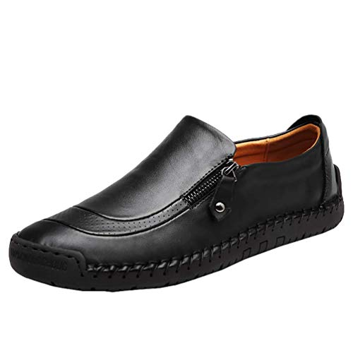 COSIDRAM Men Casual Shoes Slip on Walking Shoes Breathable Comfort Fashion Loafers Luxury Suede Leather Black Brown Sneakers Driving Shoes for Male Business Work Office Dress Outdoor