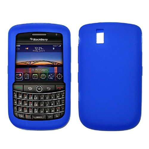 (Premium Blue Silicone Gel Skin Cover Case for Blackberry Bold 9650)