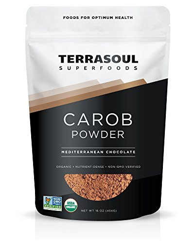 Terrasoul Superfoods Organic Carob Powder, 1 Pound (Best No Bake Chocolate Peanut Butter Oatmeal Cookies)