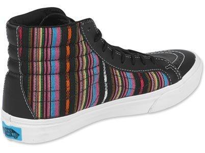 Zapatillas De Skate High-top (guate) Stripe, De Rayas Verdes, De La Marca Vans Sk8-hi Slim