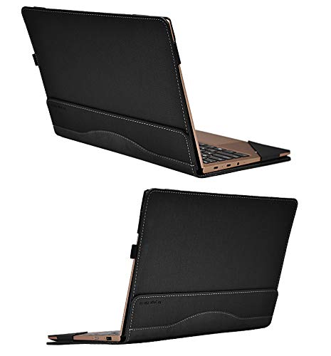 for Lenovo Yoga 730 Case, PU Leather Folio Stand Protective Laptop Cover for Lenovo Yoga 730-13/Yoga 720-13 13.3 Inch,Grey by Heycase (Image #3)