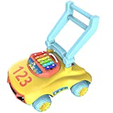 Ybriefbag-Toys Baby Three-in-one Activity Walker Baby Multi-Function Walker Trolley Toy Baby Child Rollover Prevention Walker 6-7-18 Months 1 Year Old (Color : Yellow, Size : 484539CM)