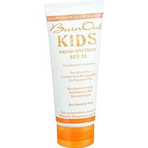 BurnOut SPF 35 KIDS Broad Spectrum, 3.4 oz.