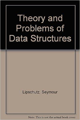 Data Structures Seymour Lipschutz Ebook