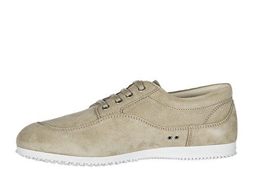 Hogan Herenschoenen Mannen Suède Sneakers Schoenen Traditioneel Lage Top Beige