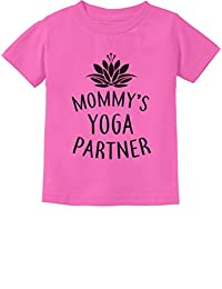 Tstars Mommy's Yoga Partner Mom & Baby Funny Yoga Lovers Infant Kids T-Shirt