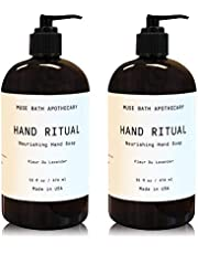 Muse Bath Apothecary Hand Ritual - Aromatic and Nourishing Hand Soap, 16 oz, Infused with Natural Essential Oils - Fleur du Lavender, 2 Pack