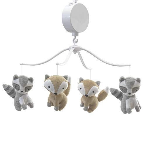 - Bedtime Originals Little Rascals Forest Animals Musical Mobile, Gray/White