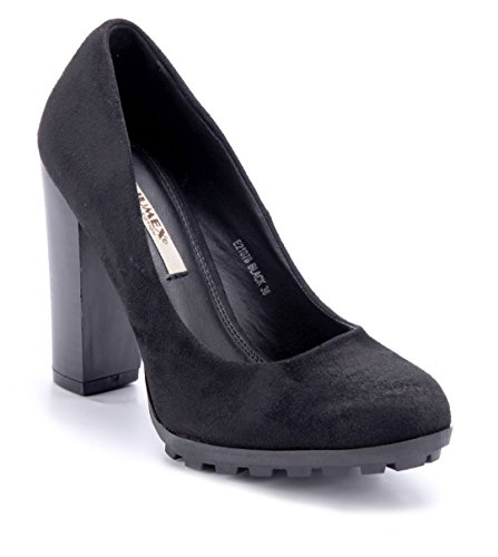 85d1fc510969 Schuhtempel24 Damen Schuhe Klassische Pumps Blockabsatz 11 cm High Heels  Schwarz