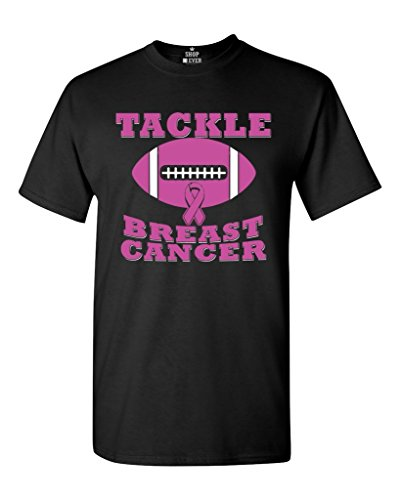 Shop4Ever Tackle Breast Cancer T-Shirt Breast Cancer Shirts Shirts X-Large Black WS 17960 (T Shirt Ideas For Breast Cancer Walk)