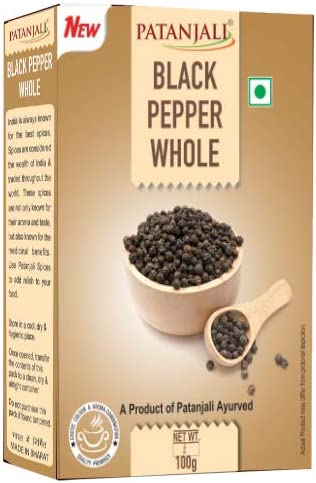 Patanjali Black Pepper Whole, 100g
