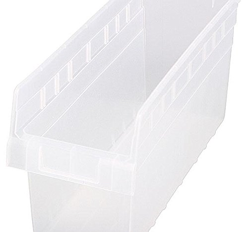 Quantum Storage Systems Ultra Stack and Hang Bin Unit (14-3/4'' x 8-1/4'' x 7''), Clear