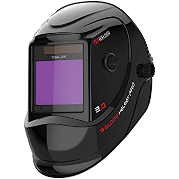 Glossy Black #13 Instapark ADF Series GX990T Solar Powered Auto-darking Welding Helmet with 4 Optical Sensors 3.94 X 3.86 Viewing Area and Adjustable Shade Range #5