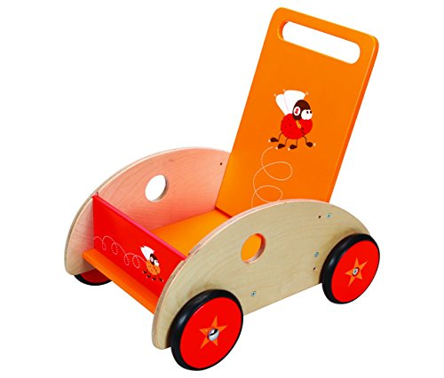 Scratch - Chariot de marche mouches volantes - Rouge, orange, beige