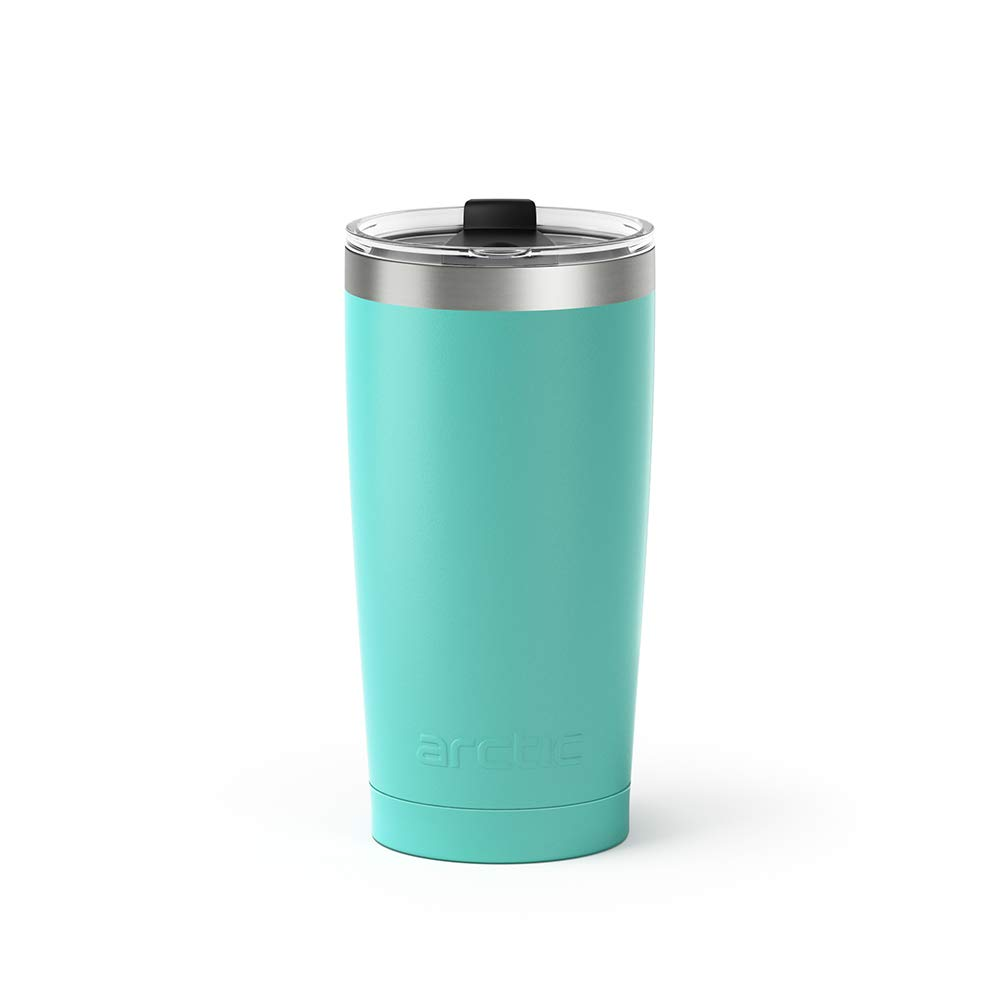 Double Wall Vacuum Insulated Stainless, Turquoise, Pink, Black, 4-pack Premium Insulated Thermos - Arctic Tumblers Stainless Steel Camping /& Travel 20 oz Tumbler With Lid Splash Proof
