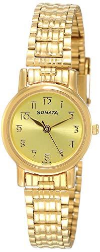 Sonata Analog Gold Dial Men #39;s Watch NL8976YM06W/NN8976YM06W