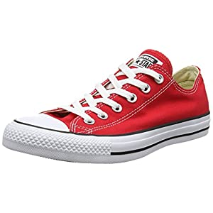 Converse Unisex Chuck Taylor All Star Low Top Red Sneakers - 6 D(M) US