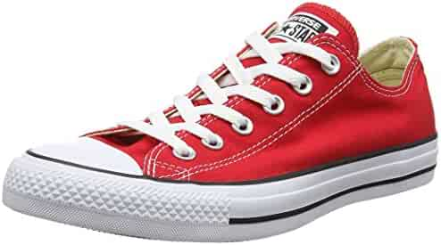 Converse Unisex Chuck Taylor All Star Low Top Red Sneakers - 3 D(M)