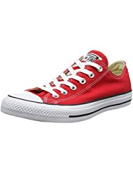 Converse Unisex Chuck Taylor All Star Ox Low Top Sneakers Red M9696 (4 D(M), Red)