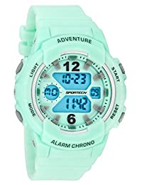 Women's Watches by Sportech - Mint and Mettallic Silver Active Digital Sport Watch - Make Every Second Count - SP12506