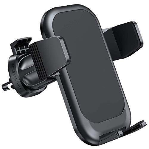 Miracase Car Phone Mount with Metal Clip ,Air Vent Phone Holder for Car with Adjustable Size Up to 7'', One-Handed One Second Operation,Fit with All iPhone and Other Android Phones