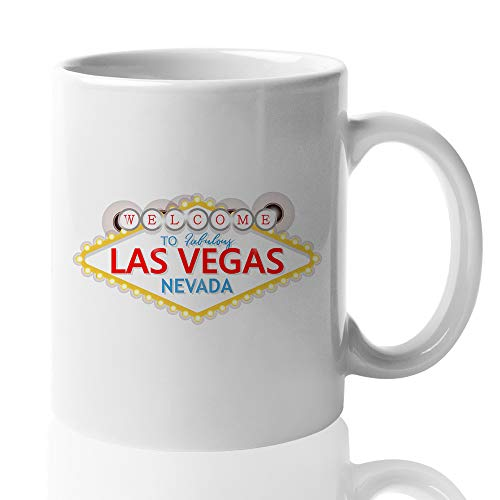 Las Vegas Coffee Mug - Welcome To Fabulous Las Vegas Nevada - Sin City Gambling Casino What's Happens Here Stays Here - Souvenir Gift Travel 11 Oz -
