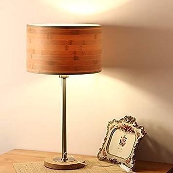 XINSU Home Lámpara de Mesa de bambú Hecha a Mano Simple ...