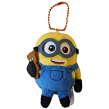Despicable Me 2 Minions Stuffed Ball Chain Plush Doll Mascot Accessory (Bob)