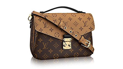 Pochette Metis Style Monogram Reverse 25 cm Canvas Crossbody Handbag Tote Bag Shoulder Bag by LAMB (Fashion Shoulder Handbag Gucci)