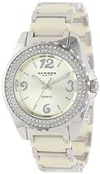 Akribos XXIV Women's AK514BG Ceramic Crystal Bracelet Watch