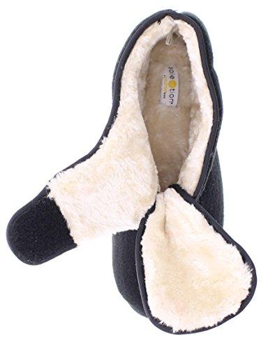Orthopedic Adjustable Strap Toe Shoes Gold Wrap Womens Black Wide Memory Slipper Bootie Foam House wqgw6f