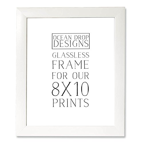 Ocean Drop Designs Frame for 8x10 Prints (White) by Ocean Drop Designs