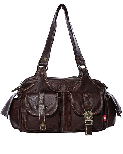 Women Messenger Bag PU Leather Crossbody Satchel Shoulder Handbag - 2