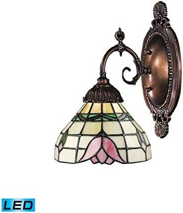 照明tbled MixNMatchライトLED壁取り付け用燭台in Tiffanyブロンズ