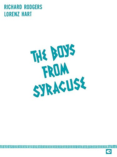 Boys From Syracuse Vocal Score by Hal Leonard