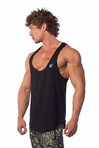 Jed North Mens Bodybuilding Stringer Workout Deep Cut Tank Top Racerback