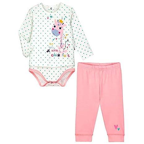 Conjunto bebé niña Body túnicas + Legging misslala - Talla ...