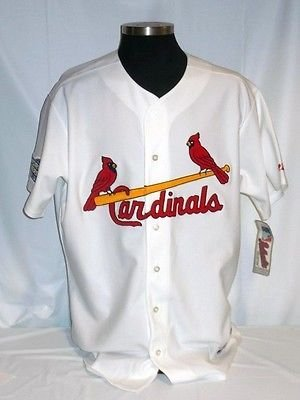 St. Louis Cardinals Authentic Majestic Home Jersey w/ 2004 World Series Patch 2004 World Series Patch