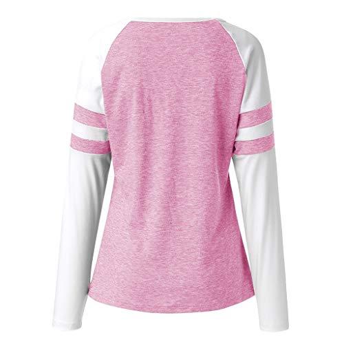 Print Manica Hulky Camicette Vendita Lunga T Carino Rosa Cat Donne Camicie Di Tuniche Liquidazione Aggiornamento Moda Cime qvqYrwx